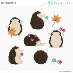 Autumn Spikes Layered Templates