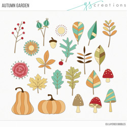 Autumn Garden Layered Templates