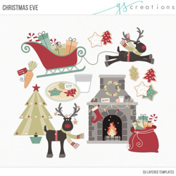 Christmas Eve Layered Templates