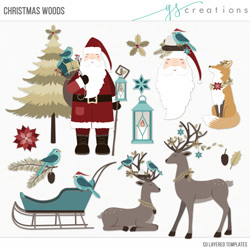 Christmas Woods Layered Templates