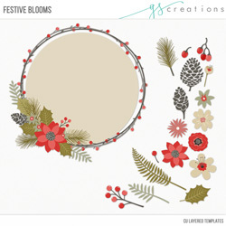 Festive Blooms Layered Templates