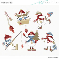 Jolly Frosties Layered Templates
