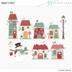 Snowy Street Layered Templates