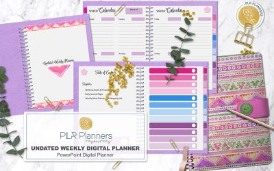 Undated Weekly Digital Planner