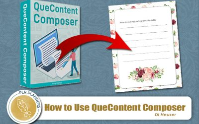How to use QueContent Composer to Create Journals and Planners