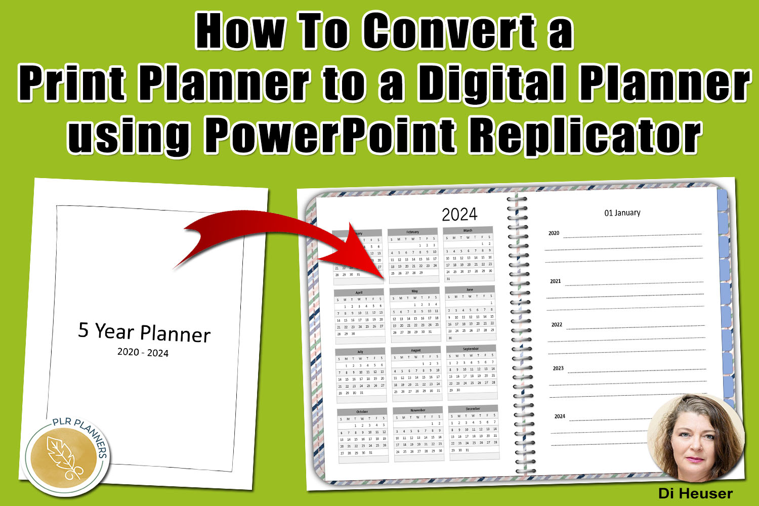 How To Convert a Print Planner to a Digital Planner using PowerPoint Replicator