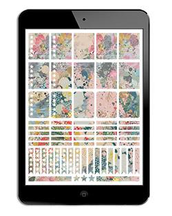 Digital Watercolor Stickers