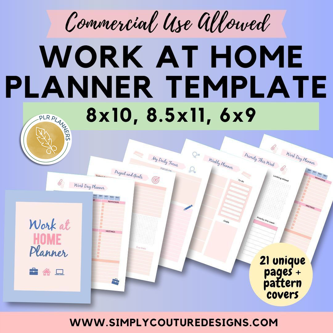 Work at Home Planner with Simply Couture Designs