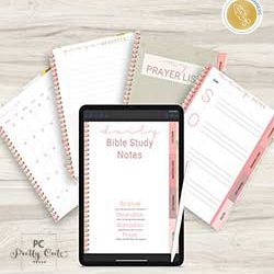 Floral Digital Bible Study Prayer Journal with Pretty Cute Press