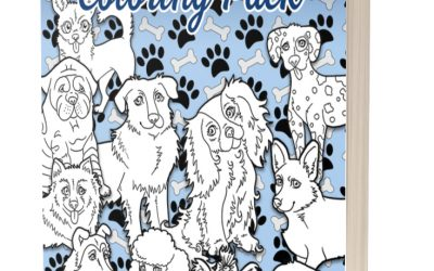 Cute Dog Breeds Coloring Pack with PLR Beach