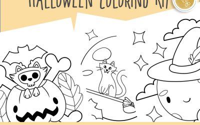 Halloween Coloring Kit with Doladella