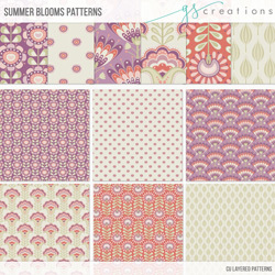 Summer Bloom Pattern Templates